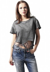 Urban Classics Damen T-Shirt Ladies Cutted Cropped Tee