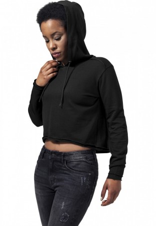 Urban Classics Damen Sweater Ladies Cropped Terry Hoody
