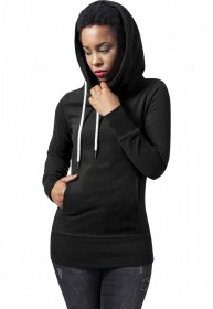 Urban Classics Damen Sweater Ladies Long Logopatch Hoody