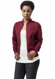 Bild 5 - Urban Classics Damen Jacke Ladies Imitation Suede Bomber Jacket