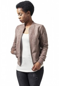 Bild 7 - Urban Classics Damen Jacke Ladies Imitation Suede Bomber Jacket