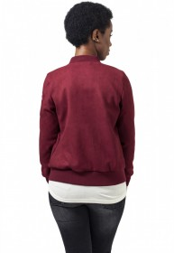 Bild 6 - Urban Classics Damen Jacke Ladies Imitation Suede Bomber Jacket