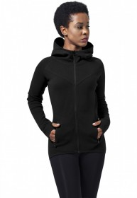 Urban Classics Damen Jacke Ladies Athletic Interlock Zip Hoody