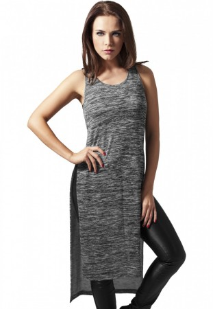 Urban Classics Ladies Top Ladies Melange HiLo Long Top