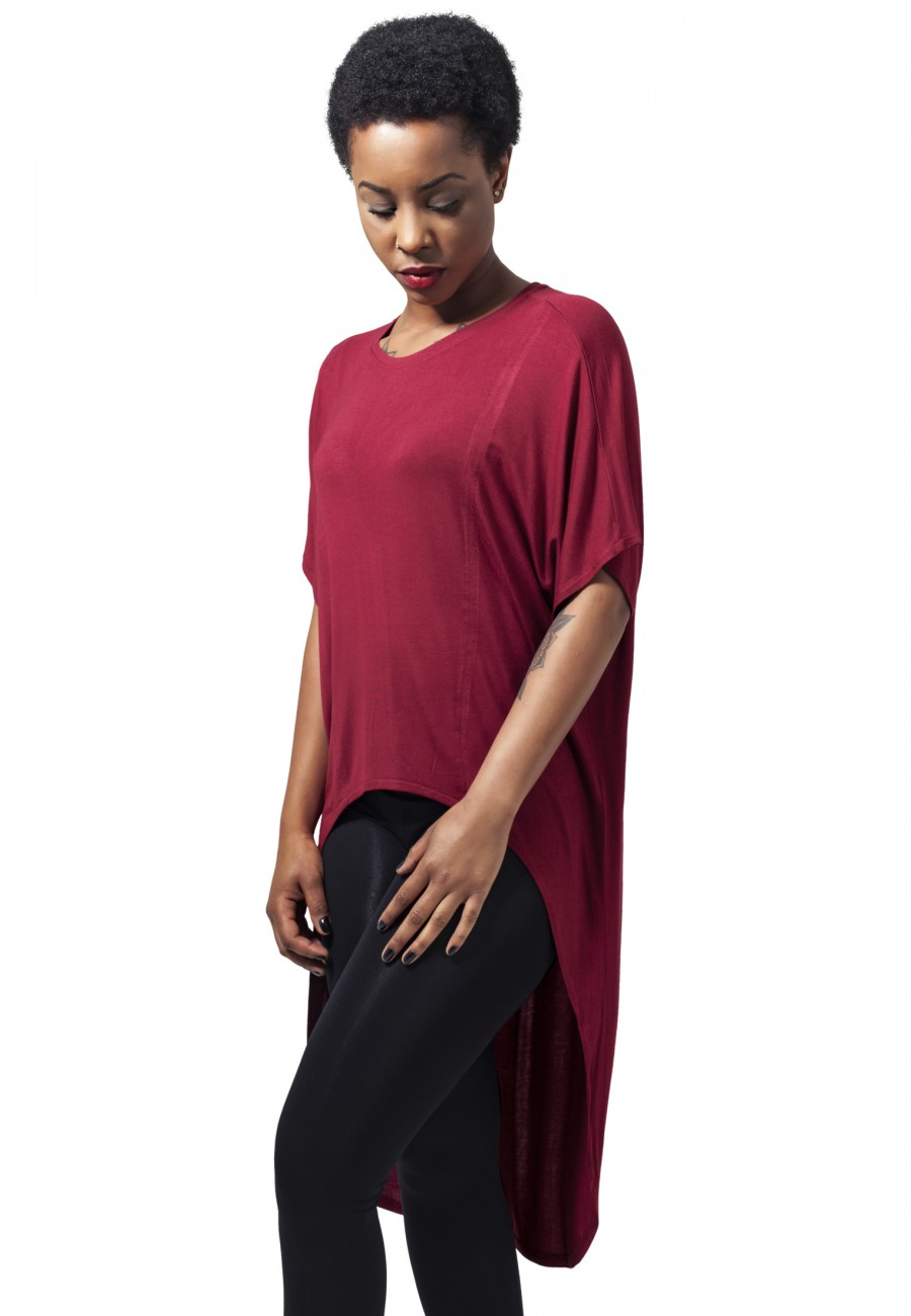 Urban Classics Damen Shirt Ladies Viscose Oversized HiLo Tee