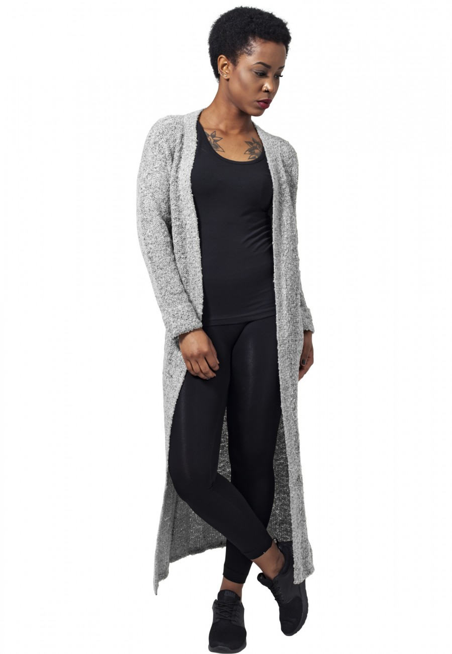 Urban Classics Damen Strickjacke Ladies Boucle Cardigan