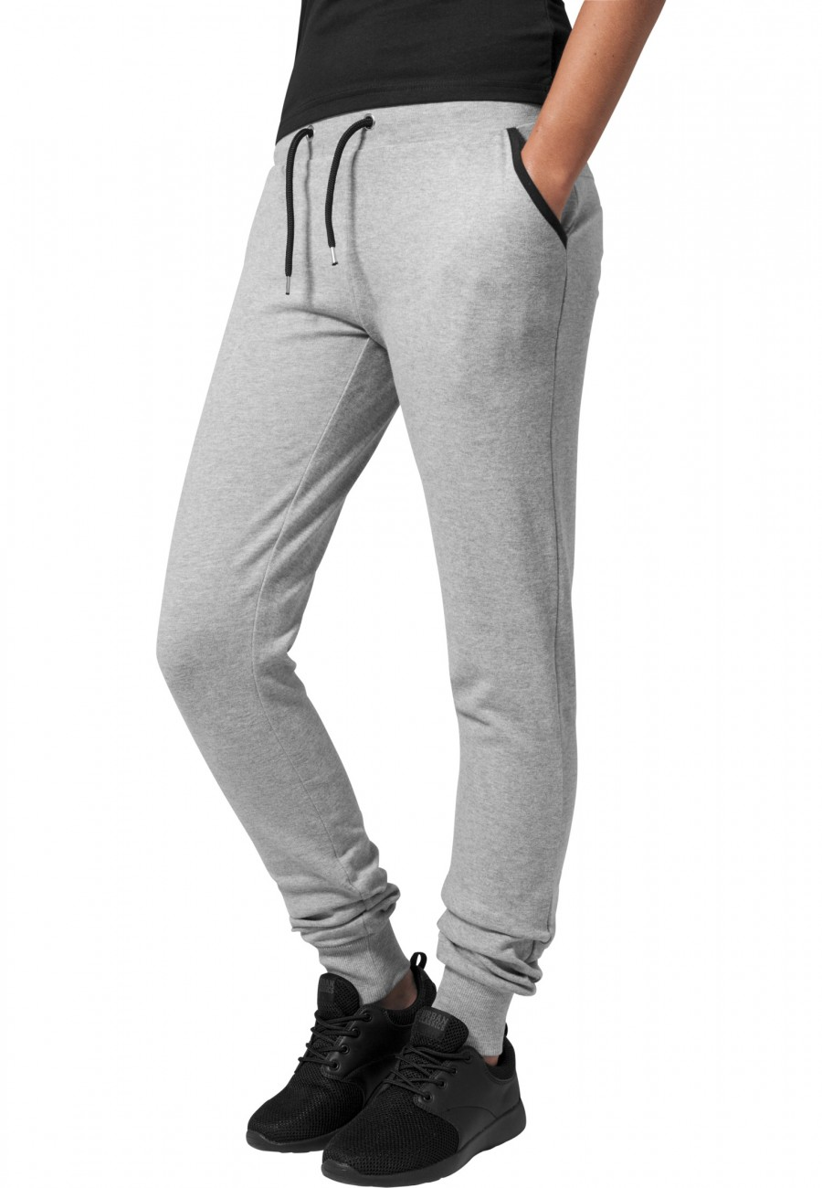 Urban Classics Damen Sweathose Ladies Fitted Athletic Pants