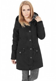 Bild 1 - Urban Classics Damen Jacke Ladies Garment Washed Long Parka