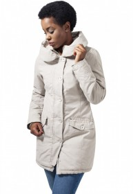 Bild 5 - Urban Classics Damen Jacke Ladies Garment Washed Long Parka