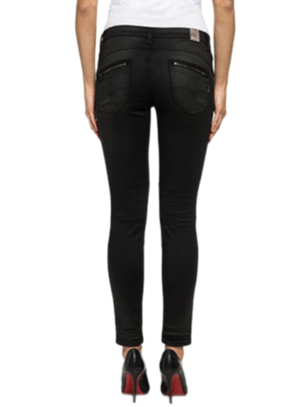 replay damen jeans elitayr skinny fit schwarz black. Black Bedroom Furniture Sets. Home Design Ideas