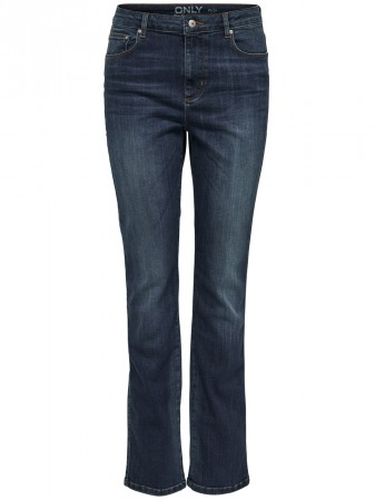 Only Damen Jeans onlLOTTA HIGH SLIM JEANS REA9202 - Slim Fit - Blau - Medium Blue Denim