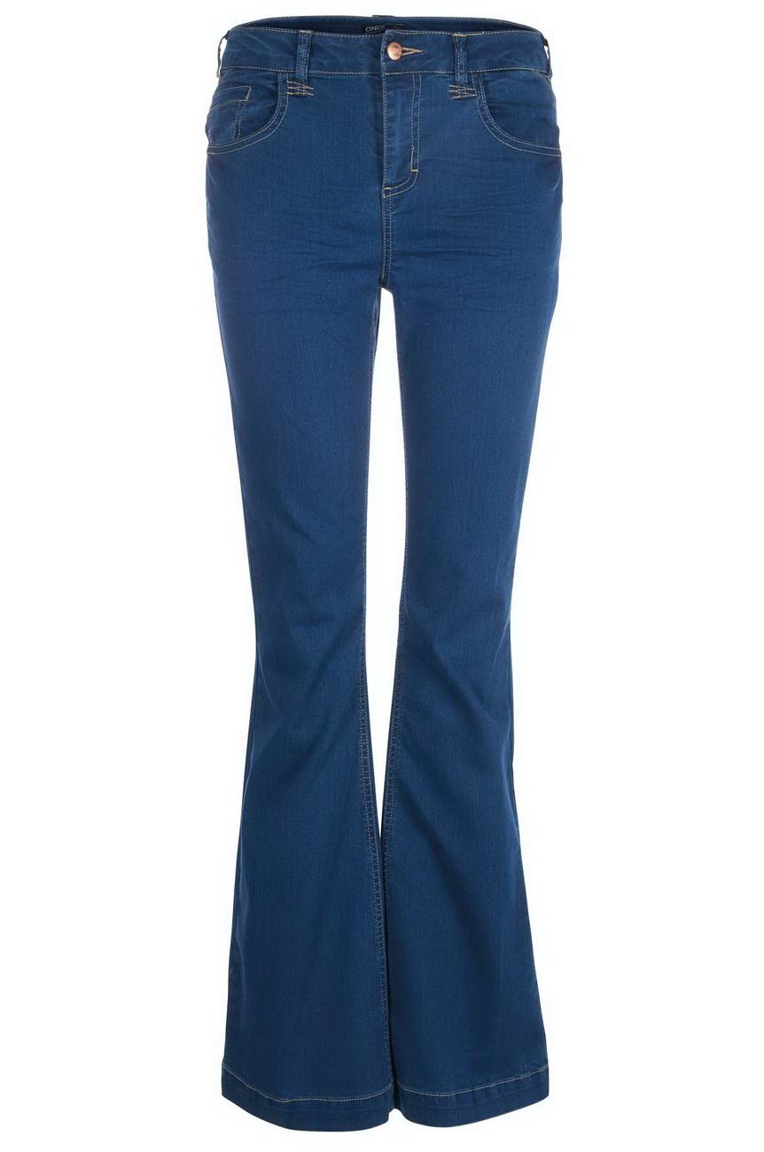 only damen jeans flared regular derry jeans zr6031 flare fit blau denim ebay. Black Bedroom Furniture Sets. Home Design Ideas