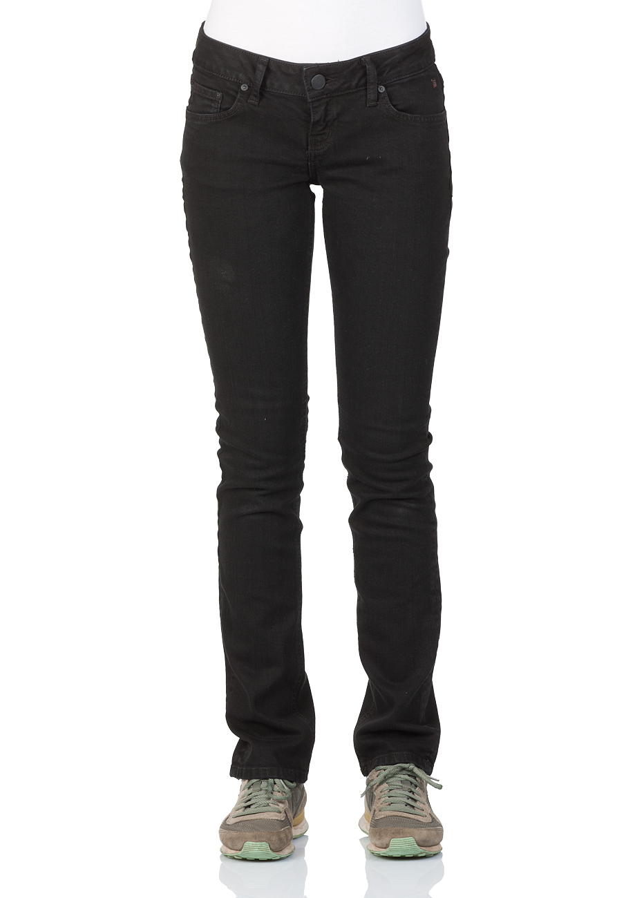 ltb damen jeans aspen regular slim straight schwarz black wash ebay. Black Bedroom Furniture Sets. Home Design Ideas