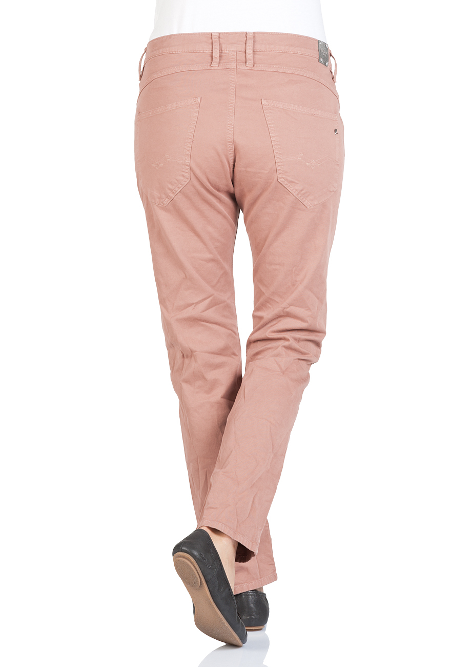 Replay Damen Hose Denice - Slim Low Crotch Fit - Braun - Rosy Brown