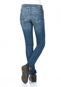 Bild 2 - Cross Damen Jeans Melinda - Skinny Fit - Blau - Blue Used Destroyed
