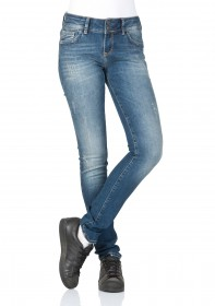 Bild 1 - Cross Damen Jeans Melinda - Skinny Fit - Blau - Blue Used Destroyed