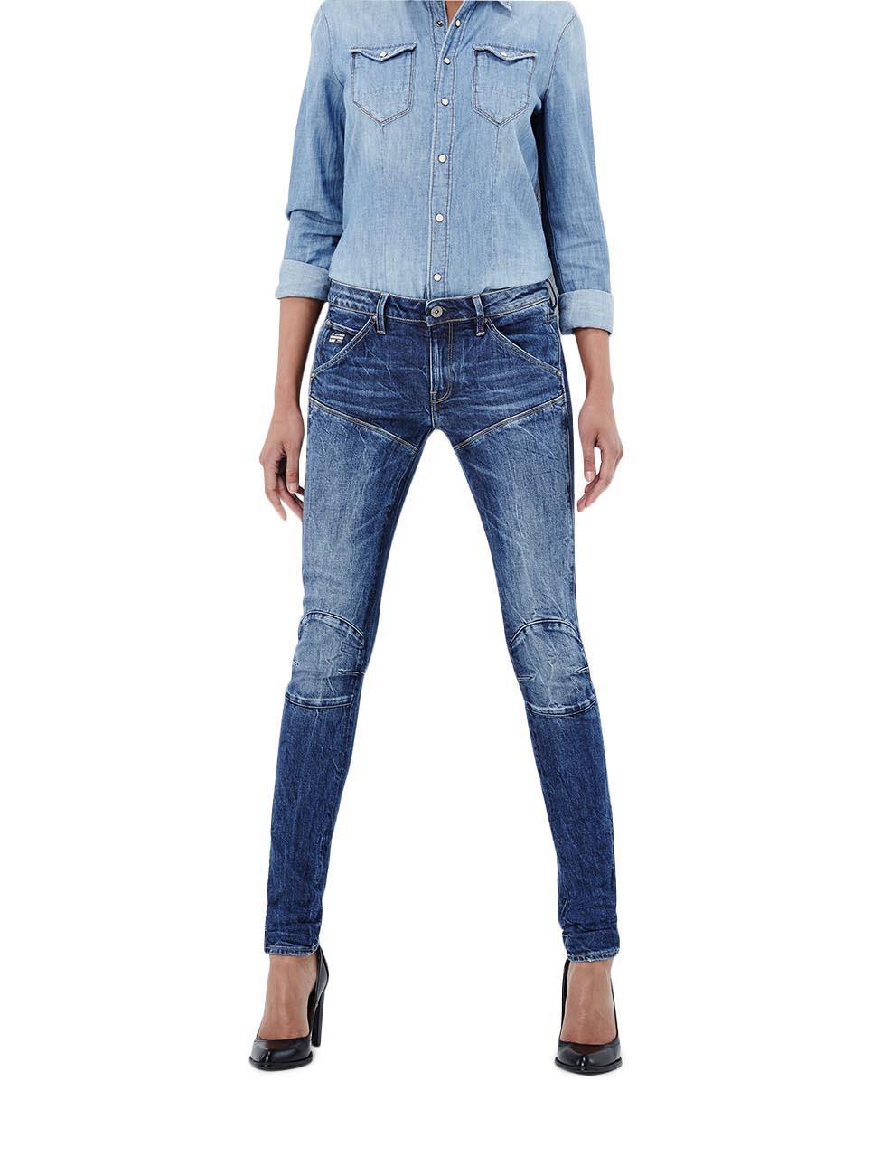 g star damen jeans 5620 elwood mid waist skinny jeans. Black Bedroom Furniture Sets. Home Design Ideas