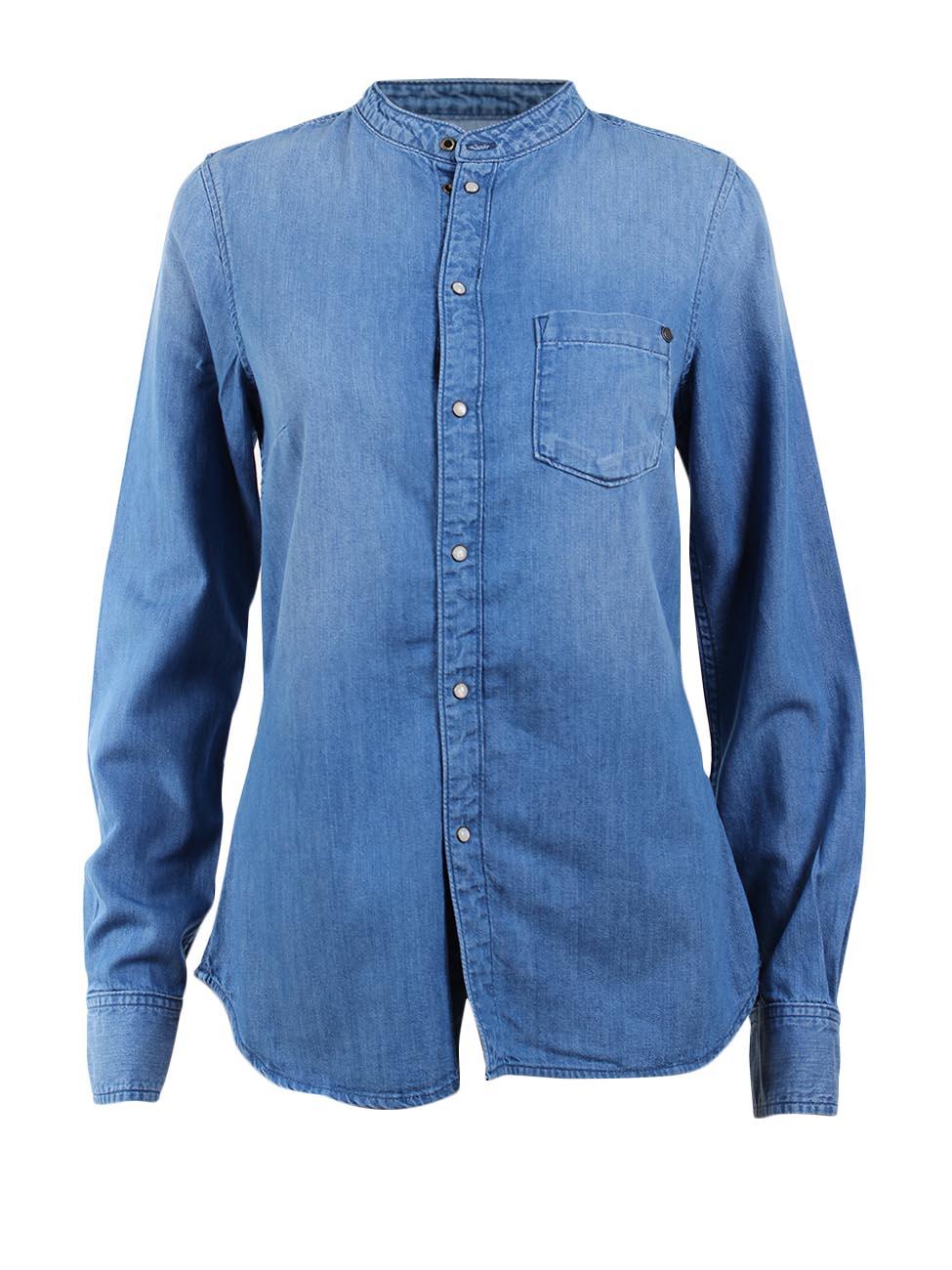 pepe jeans london damen jeanshemd ella blau denim ebay. Black Bedroom Furniture Sets. Home Design Ideas
