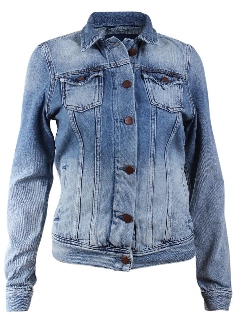 pepe jeans london damen jeansjacke thrift blau denim. Black Bedroom Furniture Sets. Home Design Ideas