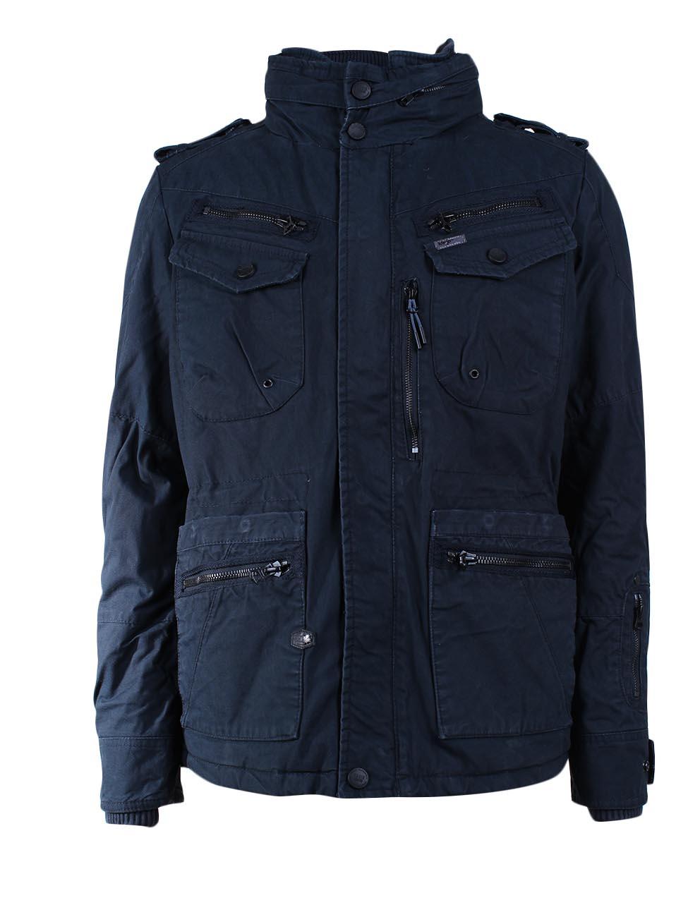 khujo herren winterjacke major grau blau charcoal dark blue kaufen jeans direct de. Black Bedroom Furniture Sets. Home Design Ideas