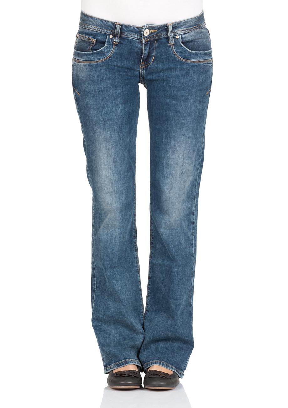 ltb damen jeans valerie bootcut blau nuage wash ebay. Black Bedroom Furniture Sets. Home Design Ideas