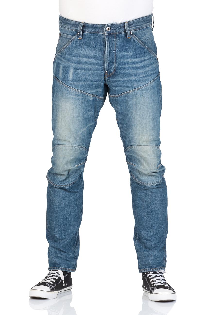 g star herren jeans 5620 3d tapered blau medium aged. Black Bedroom Furniture Sets. Home Design Ideas