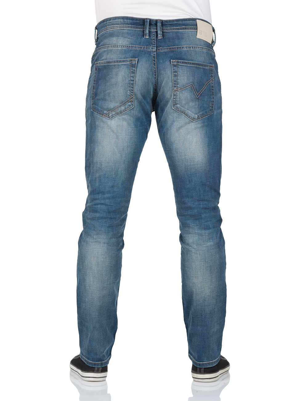 tom tailor denim herren jeans aedan slim fit blau destroyed light stone wash kaufen. Black Bedroom Furniture Sets. Home Design Ideas