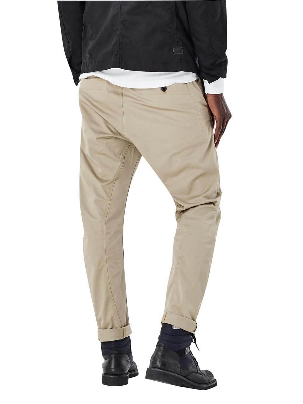 g star herren hose bronson tapered chino beige dune. Black Bedroom Furniture Sets. Home Design Ideas