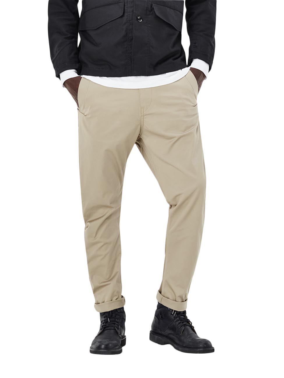 g star men 39 s trousers bronson tapered chinos beige. Black Bedroom Furniture Sets. Home Design Ideas