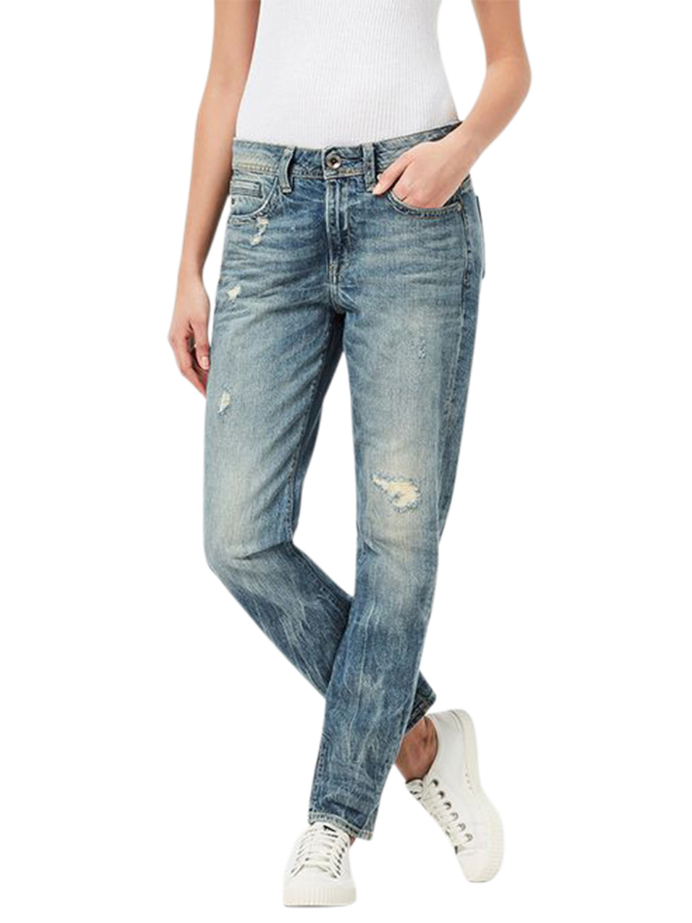 g star damen jeans midge saddle boyfriend light aged. Black Bedroom Furniture Sets. Home Design Ideas