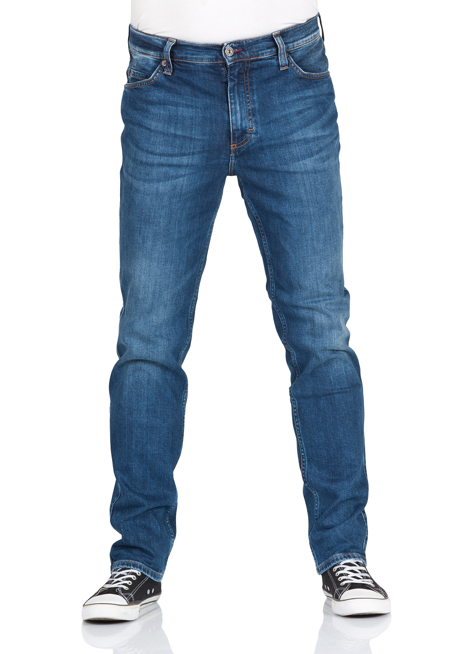 Mustang Herren Jeans Tramper - Tapered Fit - Blau - Redblue