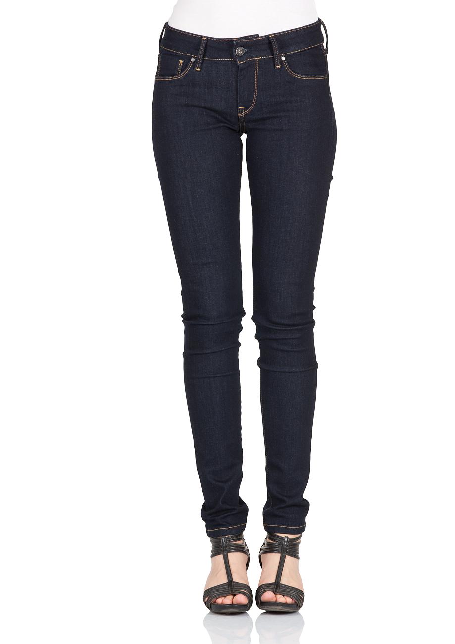 pepe jeans damen jeans soho regular fit blau rinse. Black Bedroom Furniture Sets. Home Design Ideas