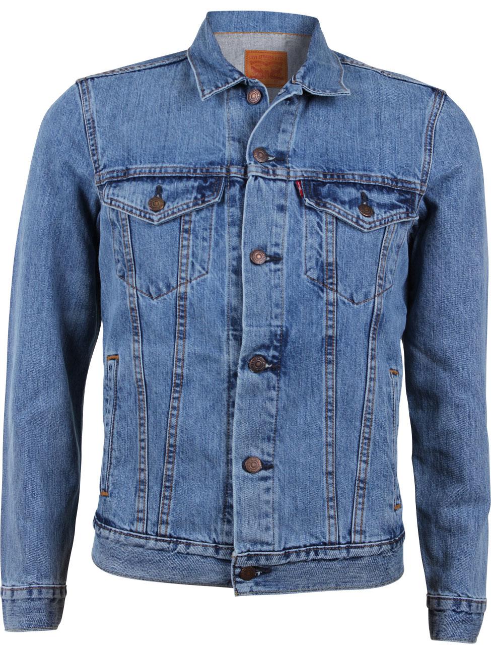 levi 39 s herren jeansjacke the trucker jacket regular fit. Black Bedroom Furniture Sets. Home Design Ideas