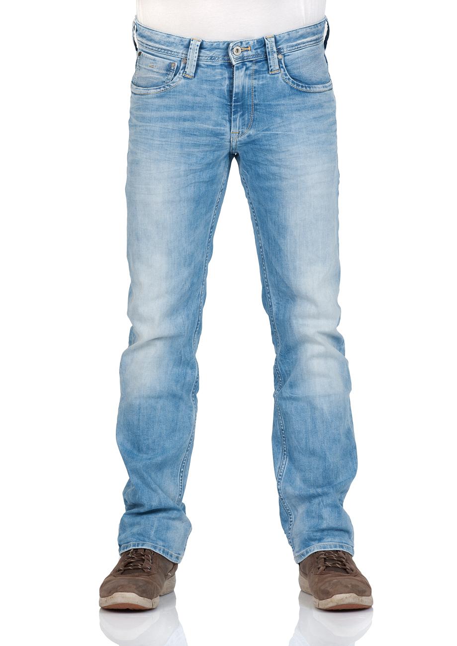 pepe jeans herren jeans kingston zip regular fit blau denim ebay. Black Bedroom Furniture Sets. Home Design Ideas