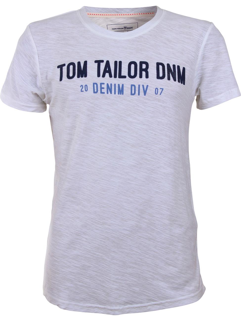 tom tailor denim herren t shirt mit logoprint ebay. Black Bedroom Furniture Sets. Home Design Ideas