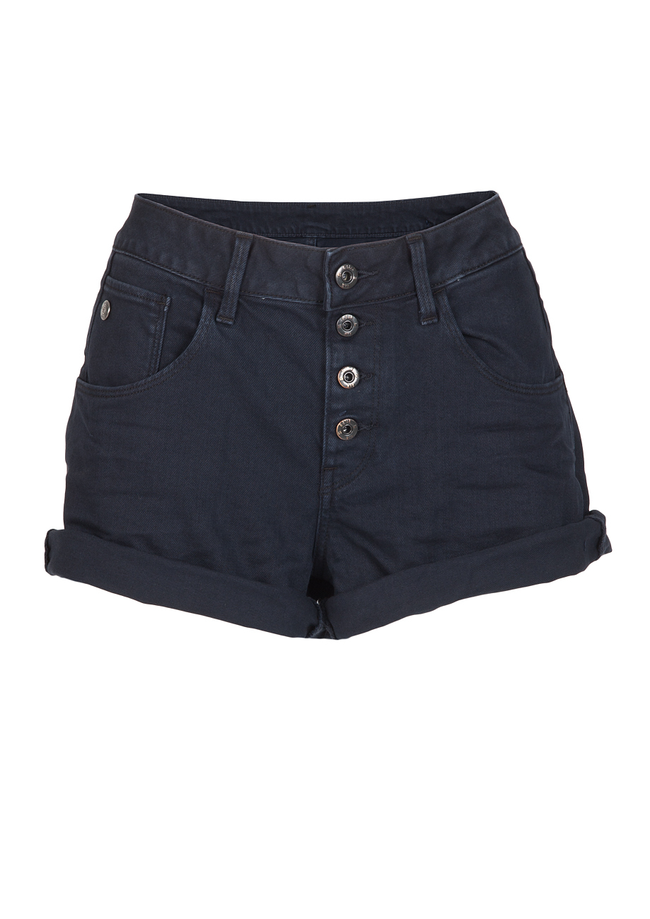 g star damen arc button boyfriend shorts blau mazarine blue kaufen jeans direct de. Black Bedroom Furniture Sets. Home Design Ideas