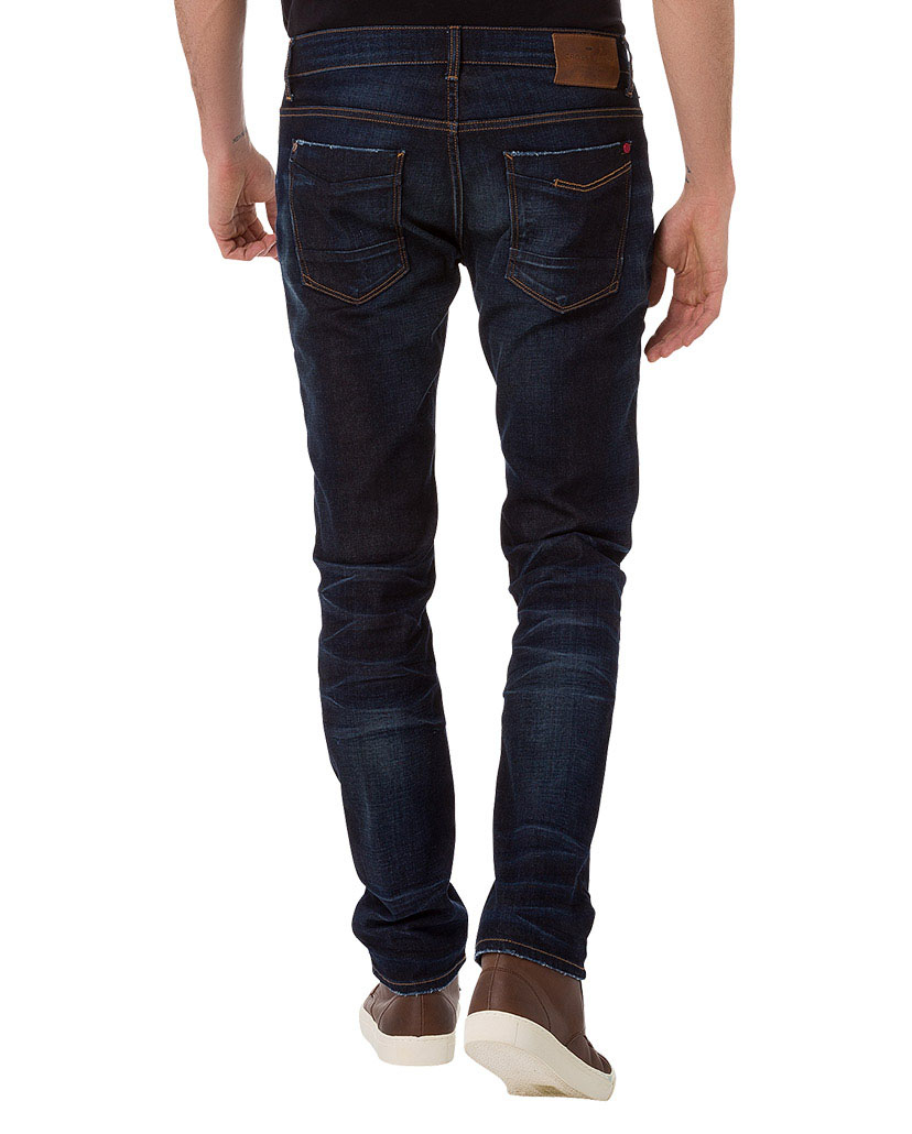 cross herren jeans johnny slim fit blau dark blue kaufen jeans direct de. Black Bedroom Furniture Sets. Home Design Ideas