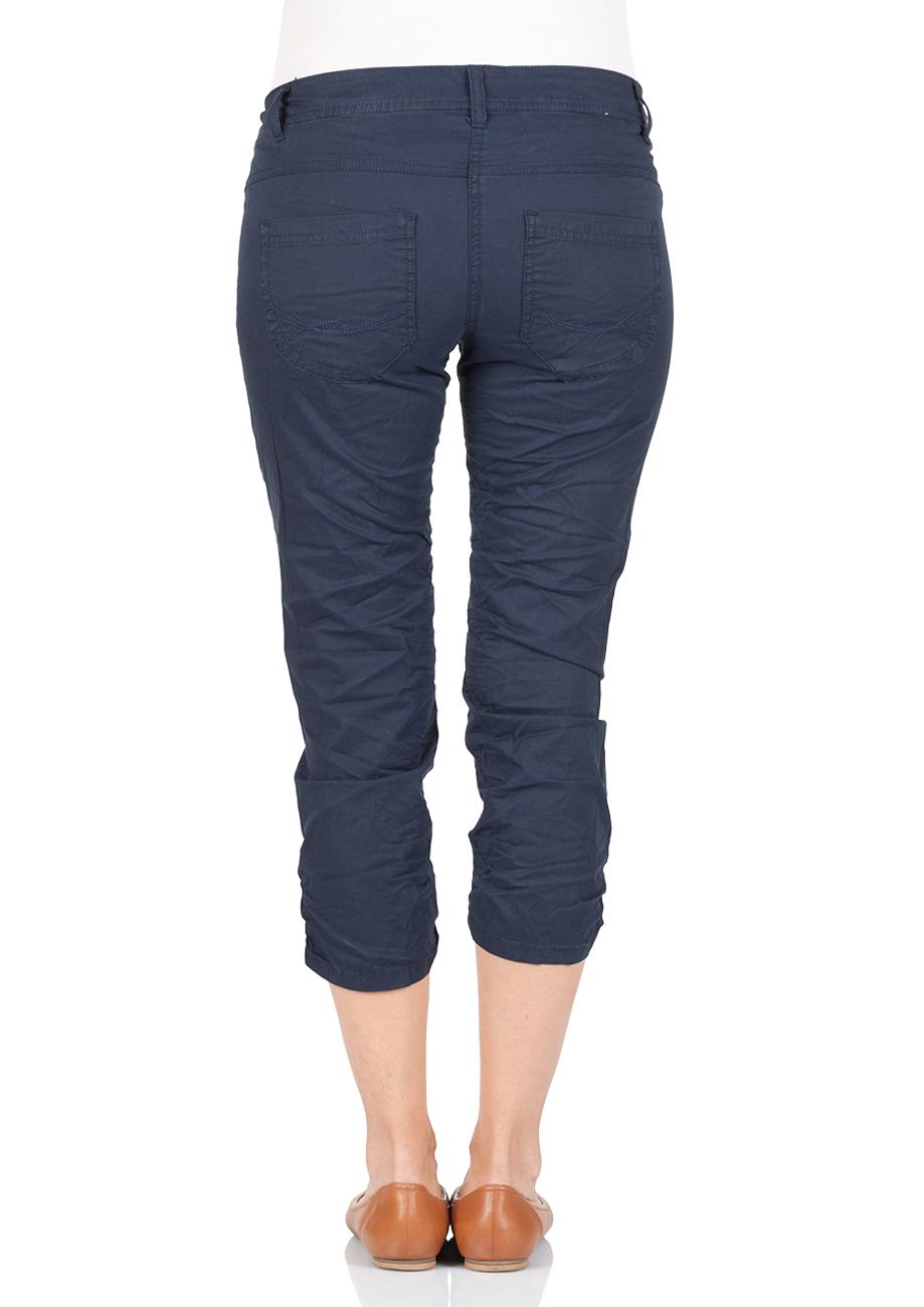 tom tailor damen 3 4 hose tapered fit blau real navy blue online kaufen jeans dirct de. Black Bedroom Furniture Sets. Home Design Ideas