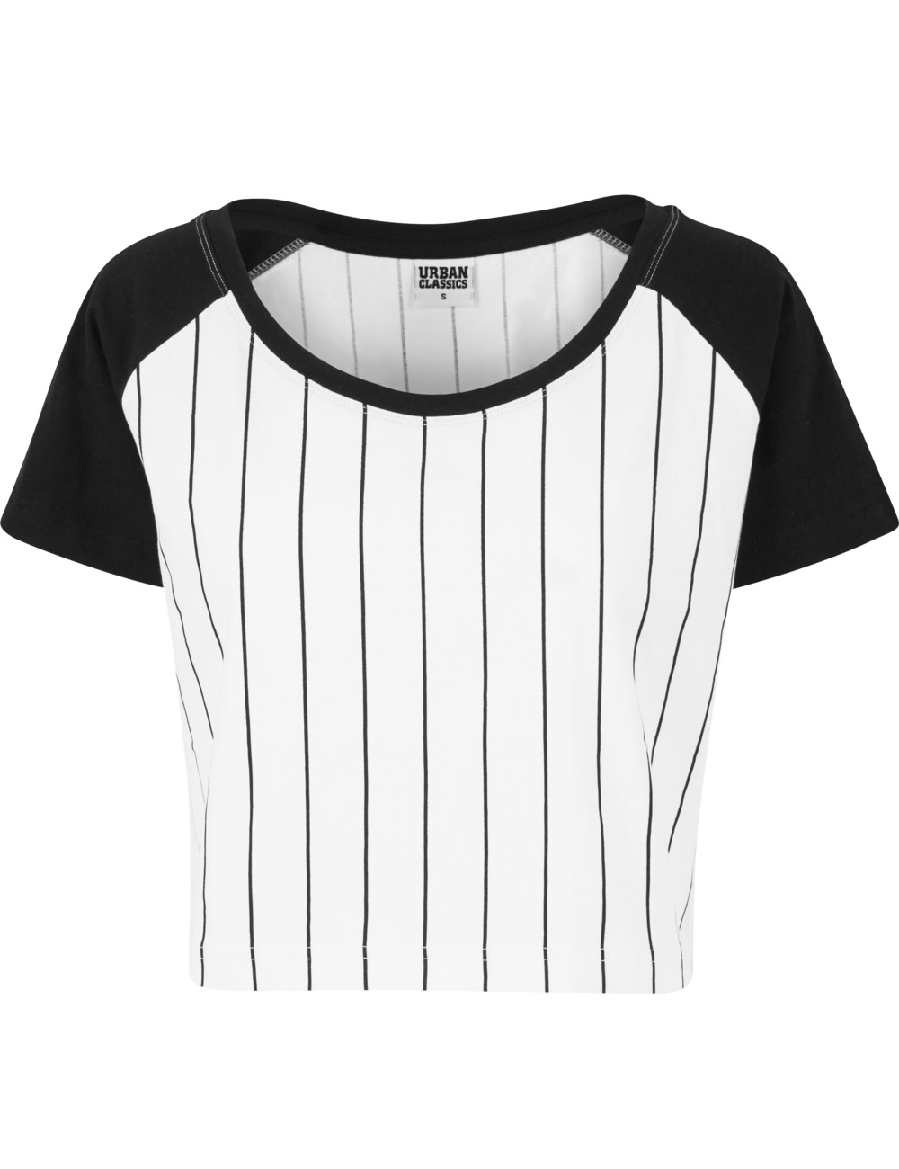 urban classics damen shirt ladies cropped baseball tee. Black Bedroom Furniture Sets. Home Design Ideas