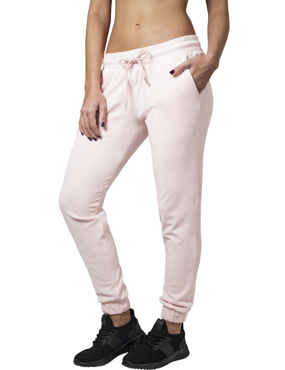 Urban Classics Damen Sweatpants Velvet XL, Pink (20185)
