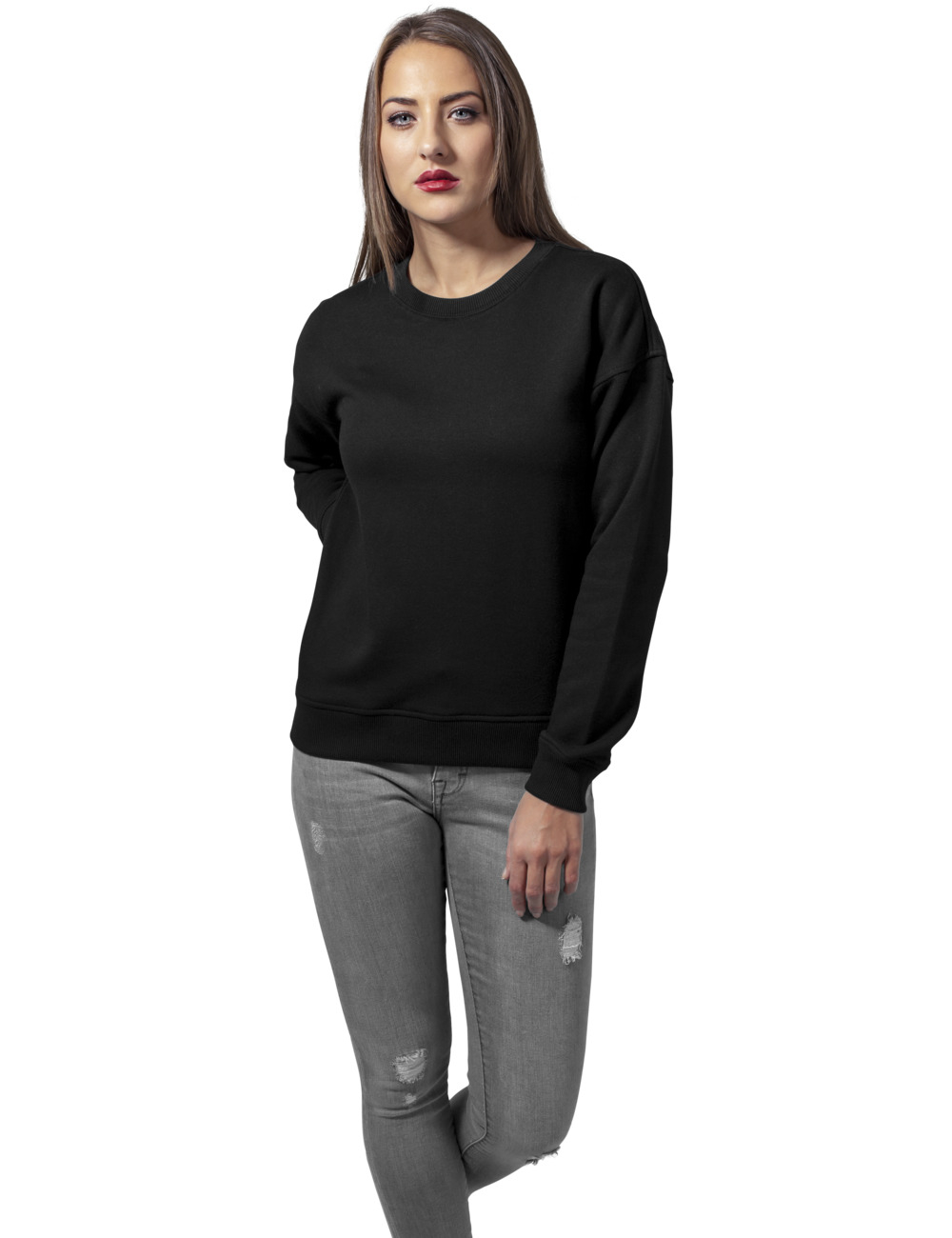 urban classics damen sweater sweat crew kaufen jeans. Black Bedroom Furniture Sets. Home Design Ideas
