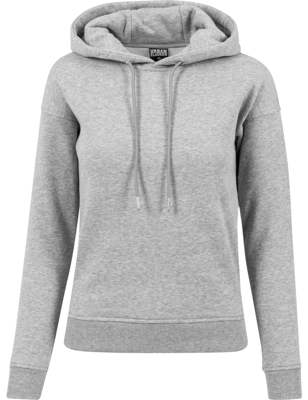 Urban Classics Damen Sweater Hoody L, Grey (20111)
