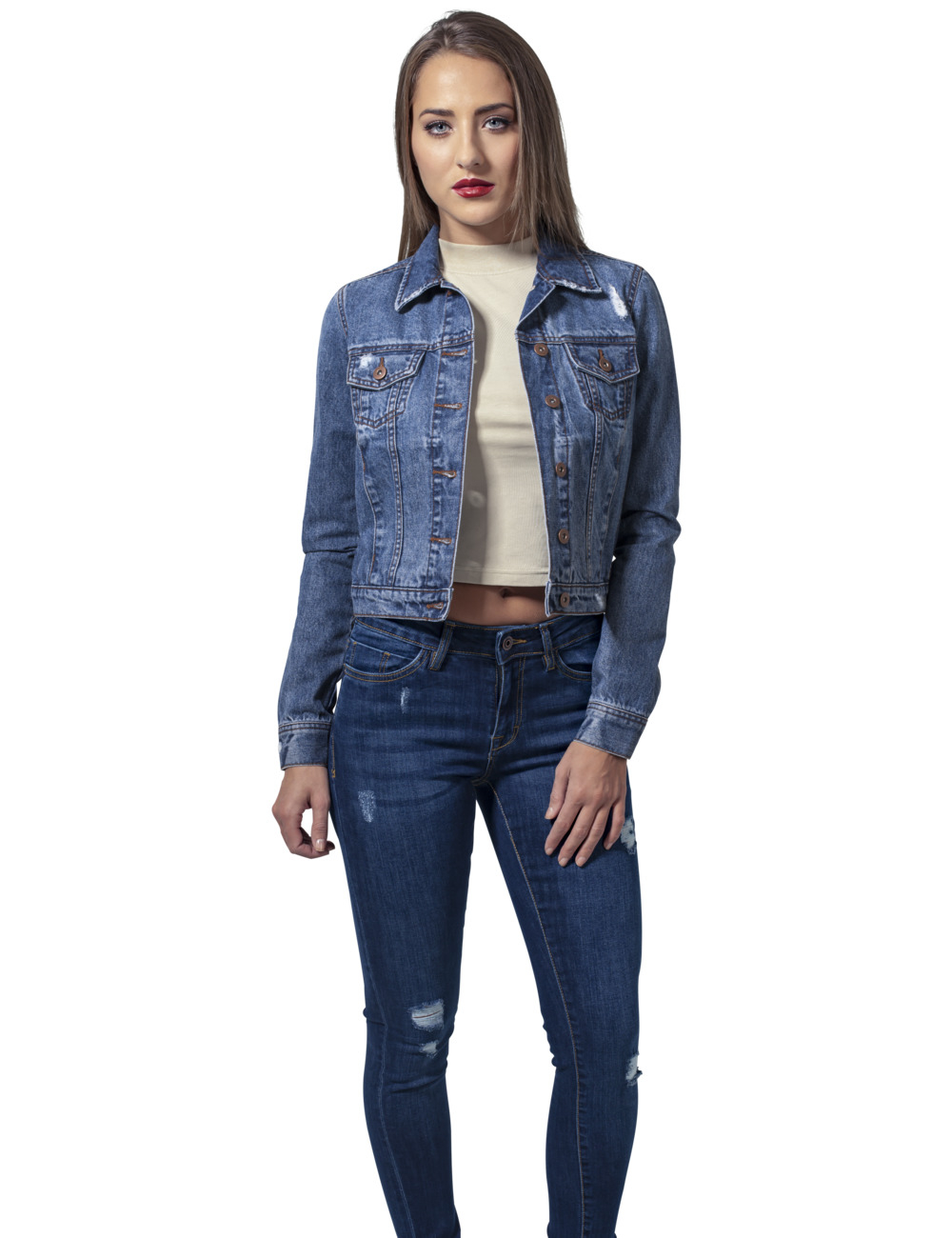 urban classics damen denim jacket kaufen jeans direct de. Black Bedroom Furniture Sets. Home Design Ideas