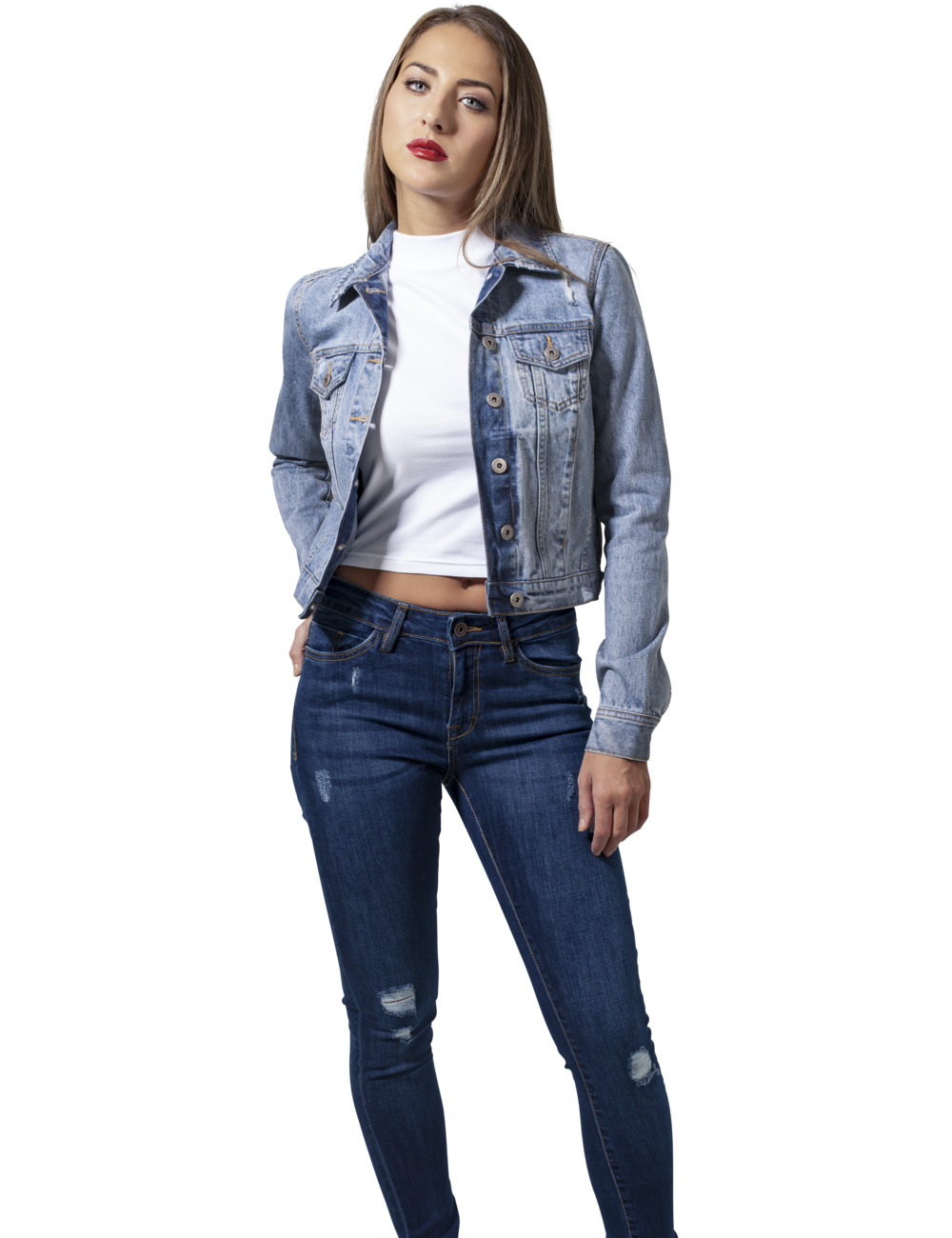 urban classics damen denim jacket kaufen jeans direct de. Black Bedroom Furniture Sets. Home Design Ideas