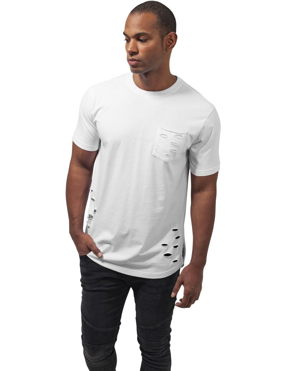Urban Classics Herren Ripped Pocket Tee XL, White (220)