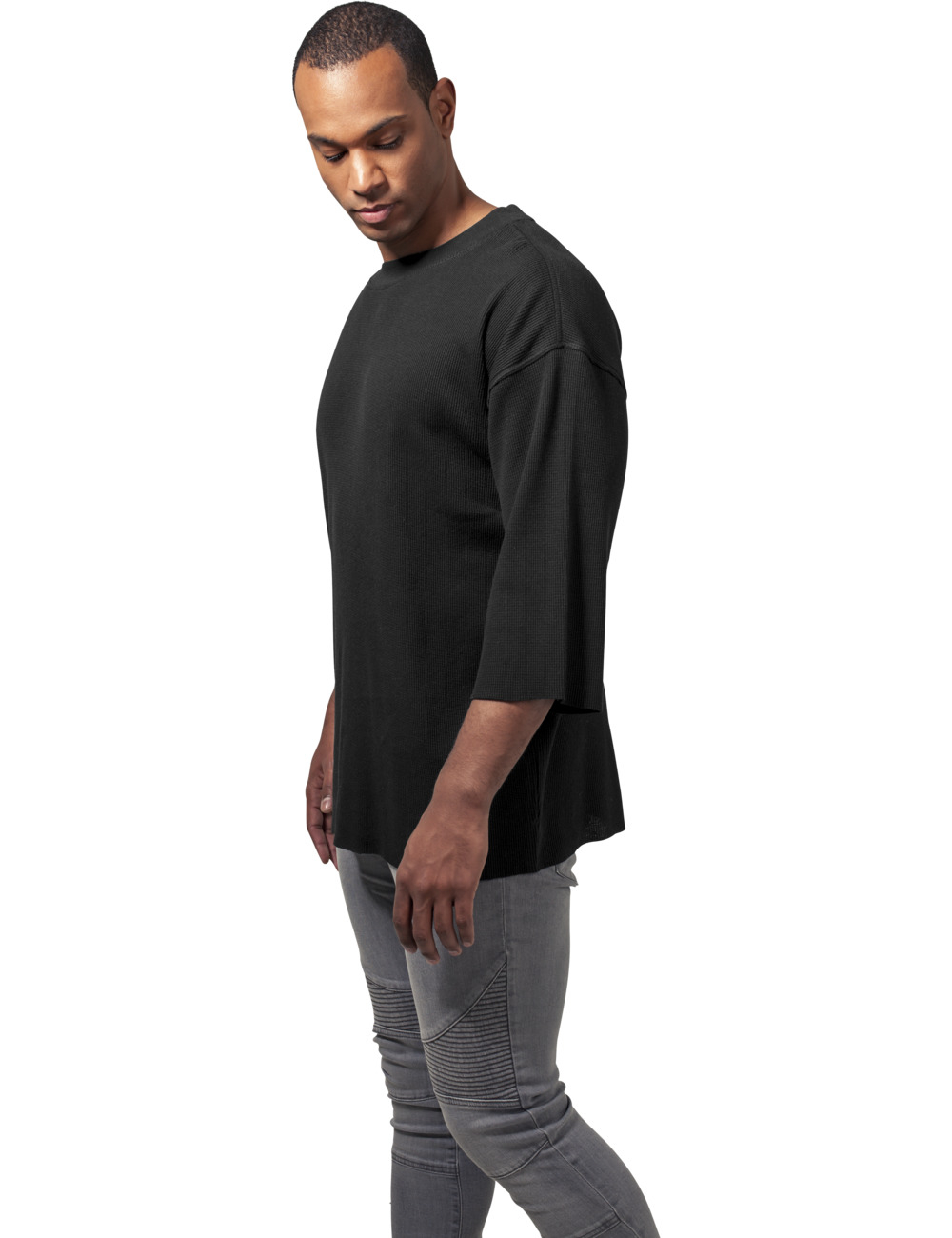 Urban Classics Herren Thermal Boxy Tee XL, Black (007)