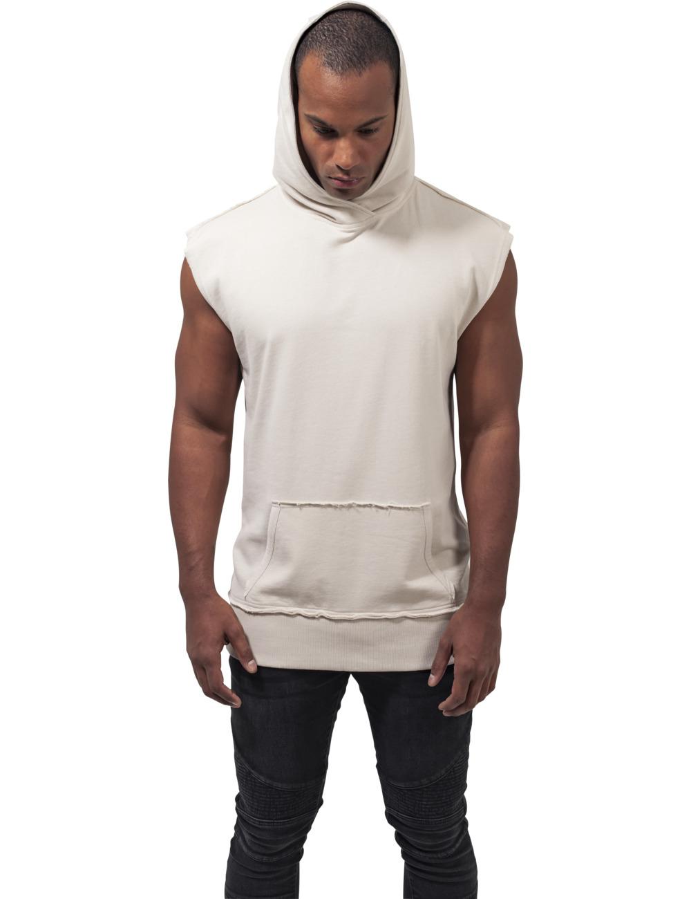 Urban Classics Herren Kapuzensweater Open Edge Sleeveless Hoody XL, Sand (208)
