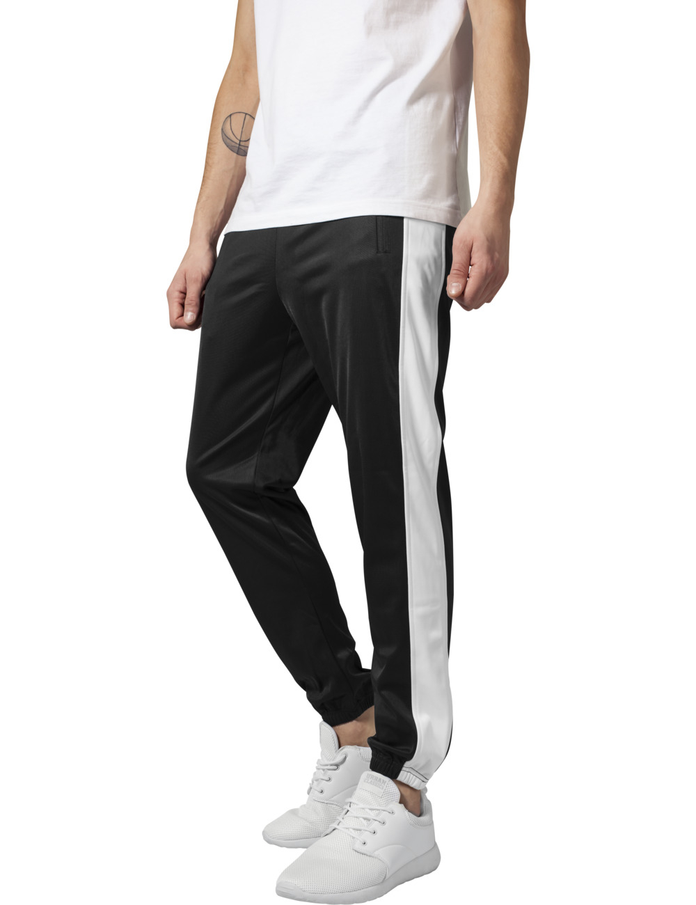 Urban Classics Herren Sweatpants Track XXL, blk/wht (050)
