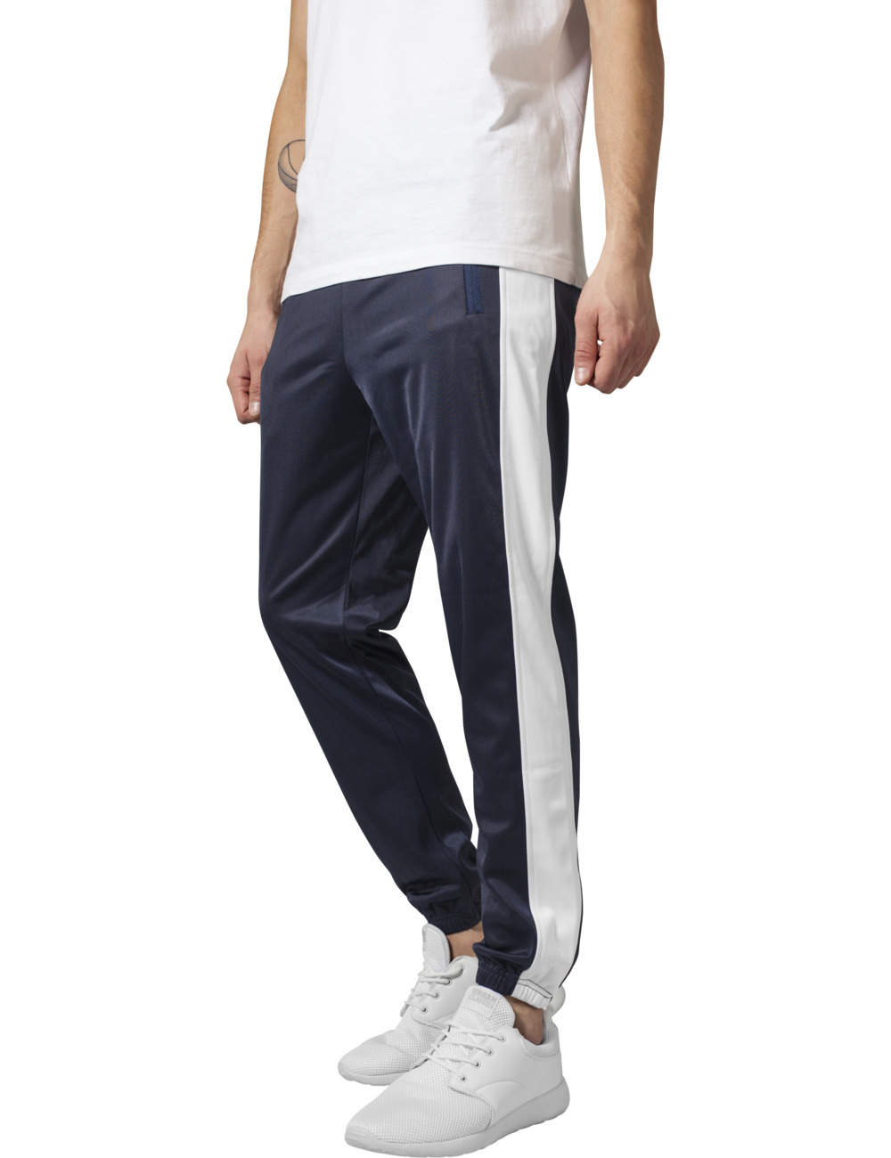 Urban Classics Herren Sweatpants Track M, navy/wht (159)