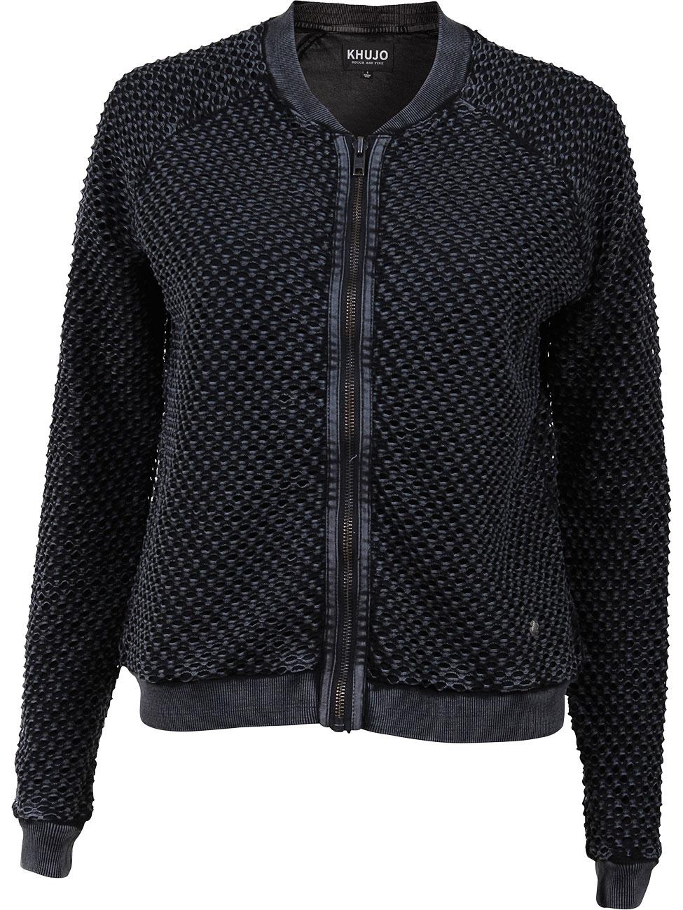 khujo strickjacke damen schwarz sweater tunic. Black Bedroom Furniture Sets. Home Design Ideas